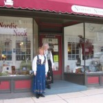 Patrice and Ardis in front of Nordic Nook